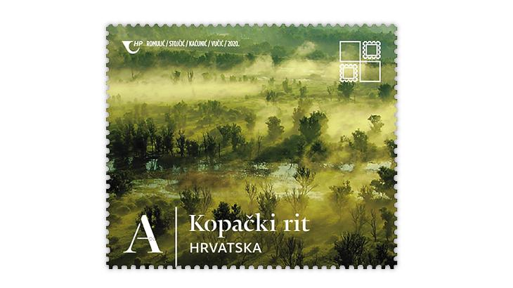 croatia-2020-natural-beauties-kopacki-rit-nature-park-stamp