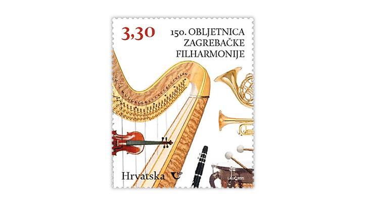 croatia-2021-zagreb-philharmonic-orchestra-stamp