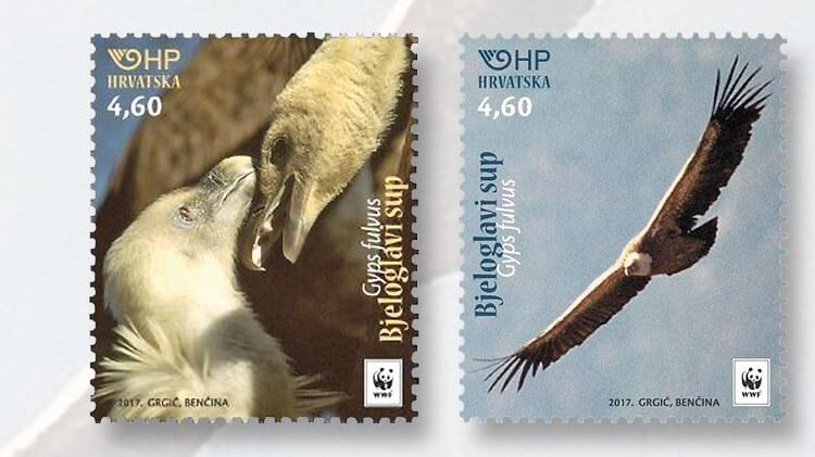 croatia-eurasian-griffon-stamps