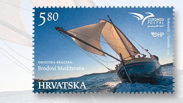 croatia-euromed-stamp