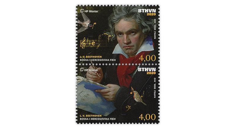 croatian-post-mostar-2020-beethoven-250th-birthday-anniversary-stamps