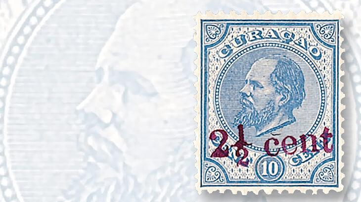 curacao-ten-cent-king-william-iii-stamp
