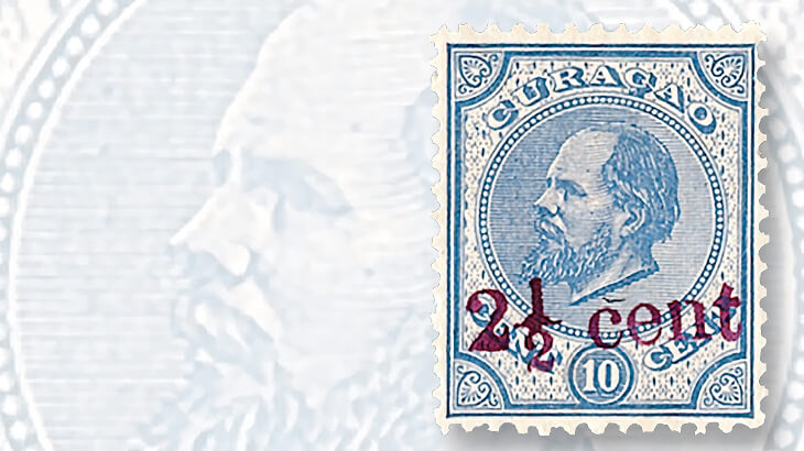 curacao-ten-cent-king-william-iii-stamp