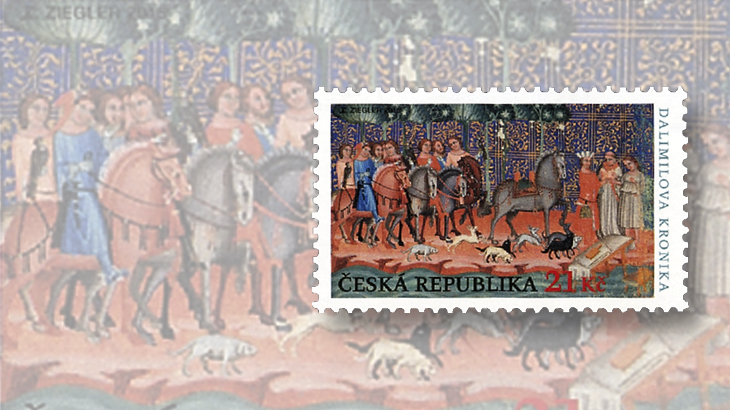 czech-hunting-dalimils-chronicle-stamps-2015-