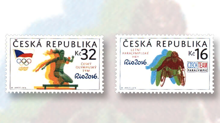 czech-republic-rio-2016-olympics-stamps