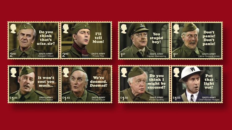 Treasured BBC sitcom on new Royal Mail stamps   Linns.com