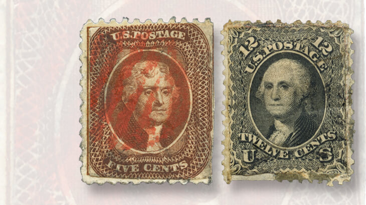 damaged-stamps-pasted-onto-new-backs