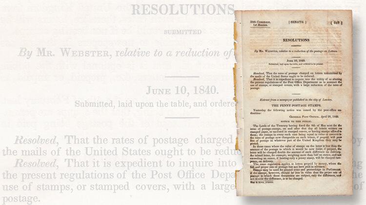 daniel-webster-1840-proposal-postal-reform