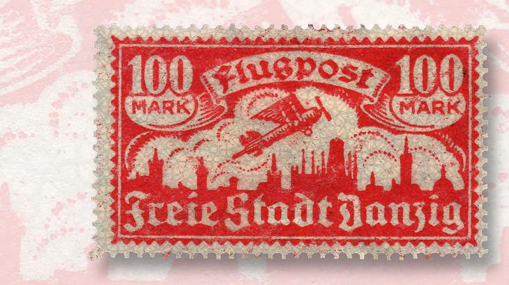 danzig-1923-airmail-stamp