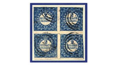 denmark-1851-rigsbankskilling-thiele-printing-block