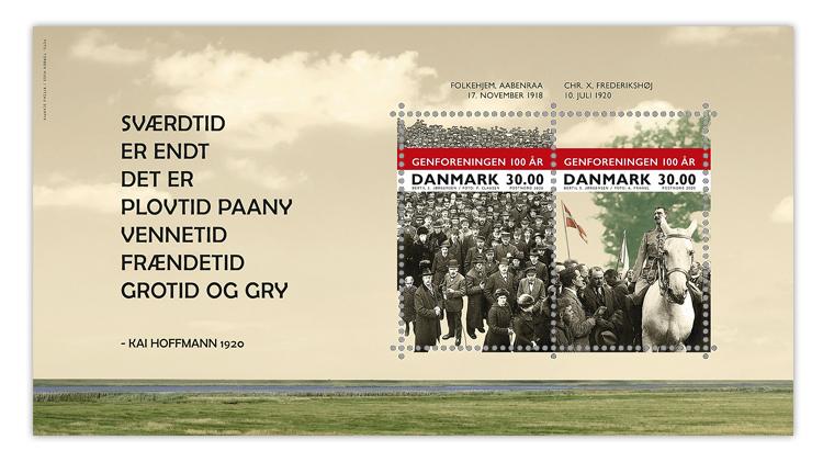 denmark-2020-south-jutland-reunification-centennial-souvenir-sheet