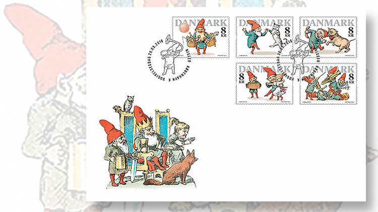denmark-pixies-christmas-stamps-first-day-cover