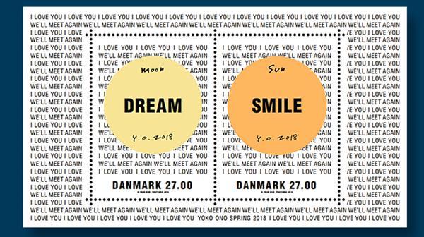 denmark-stamp-yoko-ono-souvenir-sheet
