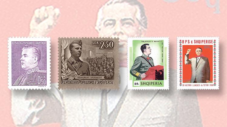 dictators-on-stamps-albania-enver-hoxha