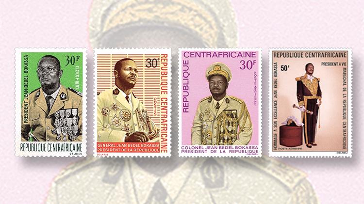 dictators-on-stamps-central-african-republic-jean-bedel-bokassa