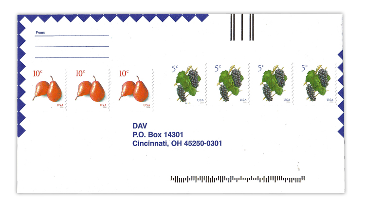 disabled-american-veterans-reply-envelope-fruits-coil-stamps