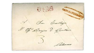 disinfected-1845-folded-letter-castelvetrano-sicily-palermo-italy