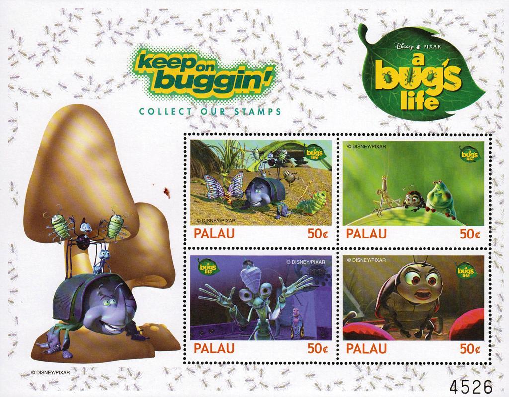disney-pixar-stamps-palau-a-bugs-life-1998