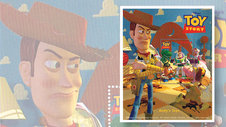disney-pixar-stamps-uganda-toy-story-sheet-woody-andy-1997