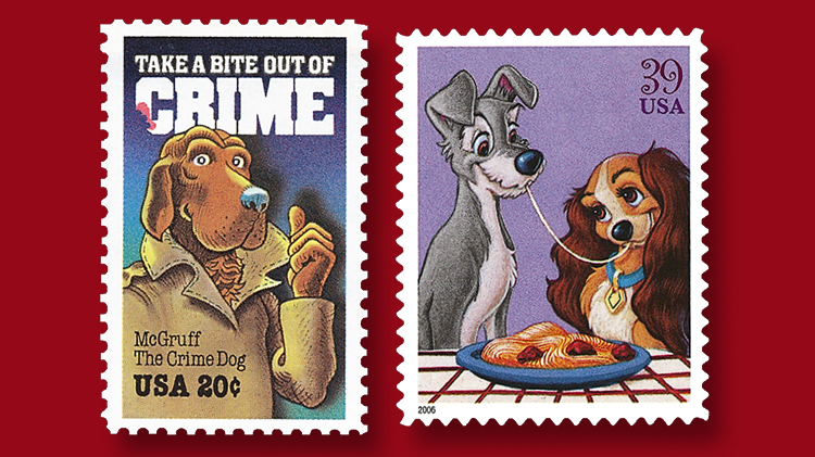 dogs-on-usps-stamps