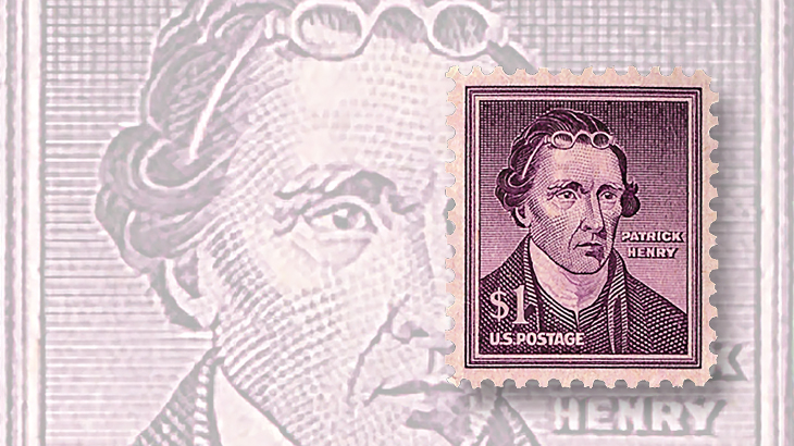 Liberty series $1 Patrick Henry comes 'wet' and 'dry'
