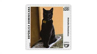 dominican-republic-pets-cat-postage-stamp