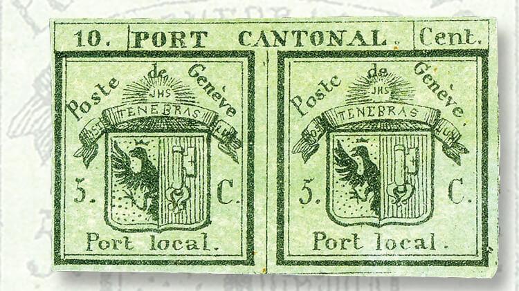 double-geneva-cantonal-stamp