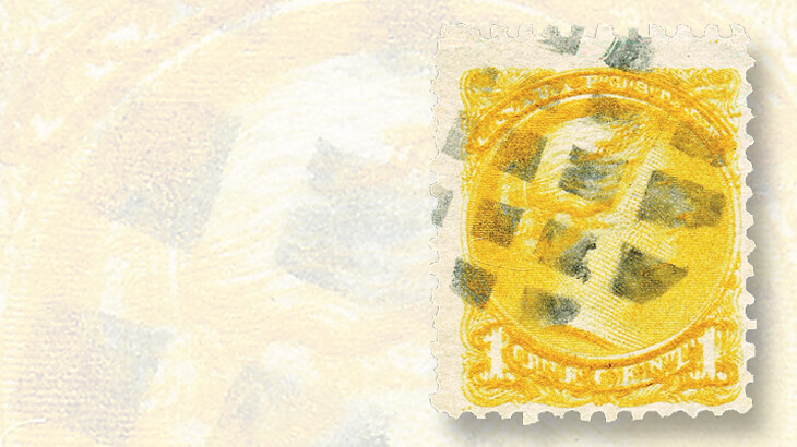 double-impression-one-cent-yellow-small-queen