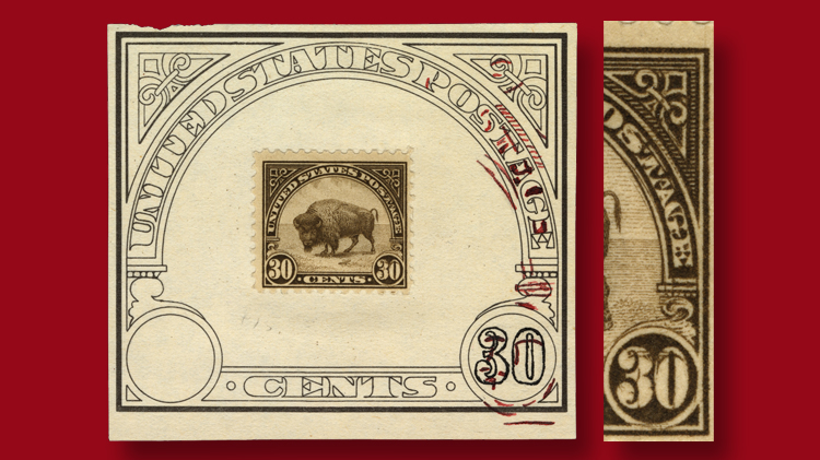 double-transfer-american-buffalo-stamp