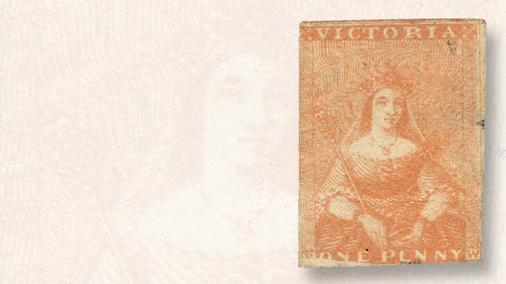 dull-red-victoria-1d-stamp