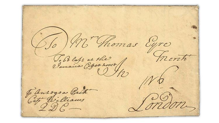 dummer-packet-service-1705-cover-jamaica-london