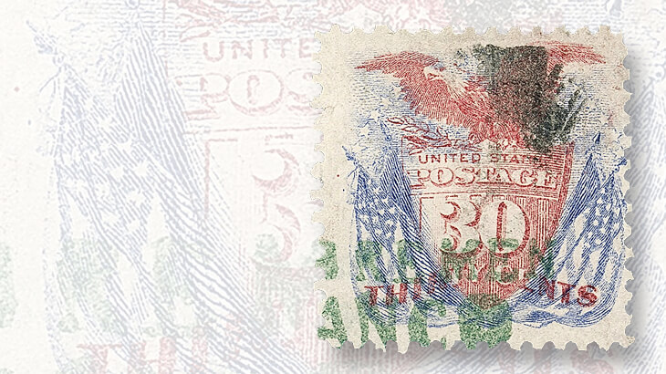eagle-flags-stamp-with-german-postmark