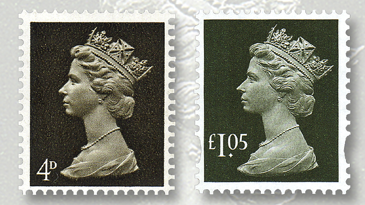 early-recent-machin-stamps
