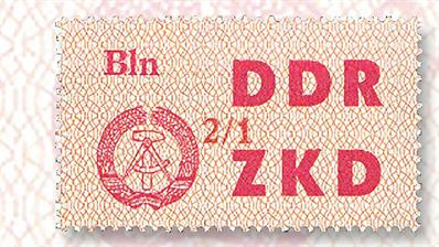east-german-central-courier-official-stamps