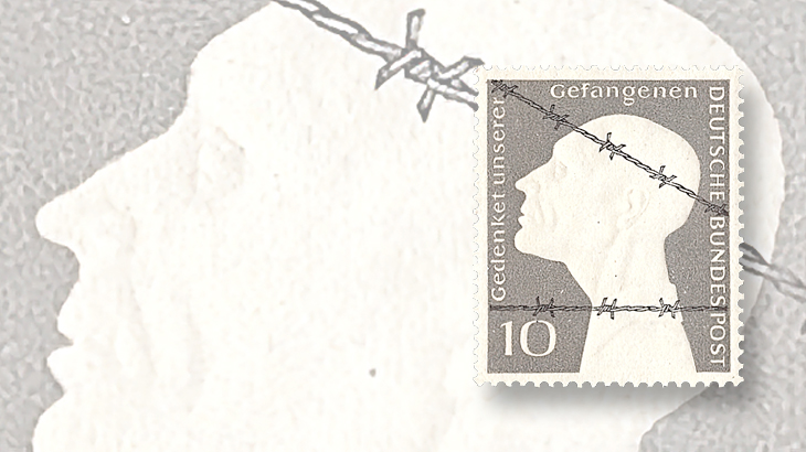 east-germany-aps-black-blot-war-prisoner-barbed-wire-stamp