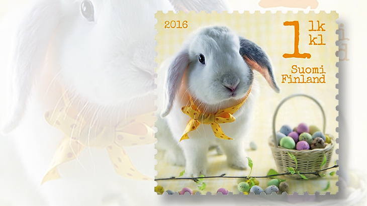 easter-greeting-stamps-2016-finland-rabbit