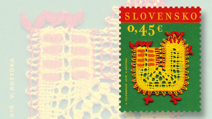 easter-greeting-stamps-2016-slovakia-chicken