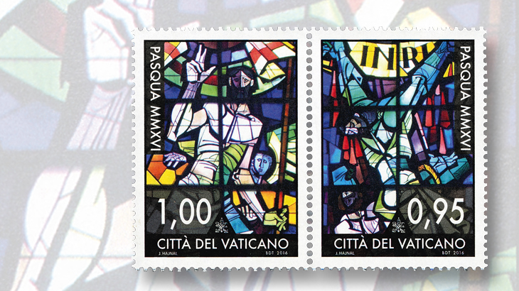 easter-greeting-stamps-2016-vatican-city-stained-glass-church