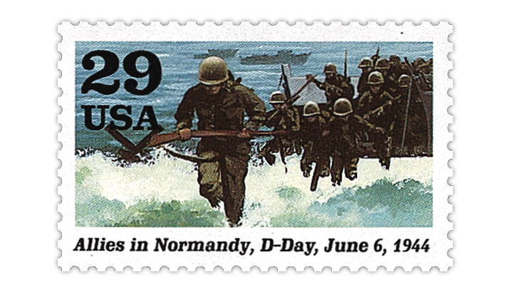 Where is the U.S. D-Day 75th anniversary stamp?