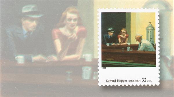 edward-hopper-nighthawks-art-stamp