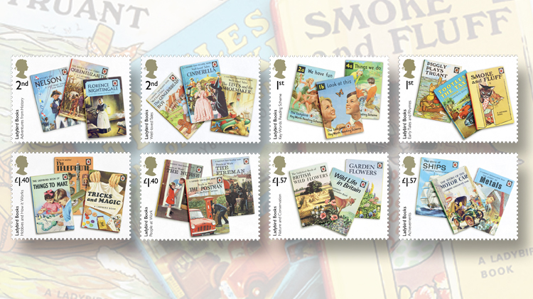 eight-royal-mail-ladybird-books-stamps