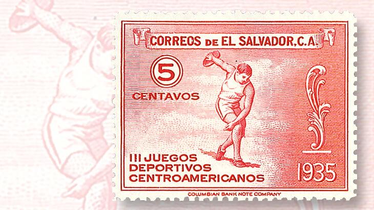 el-salvador-discus-thrower-stamp