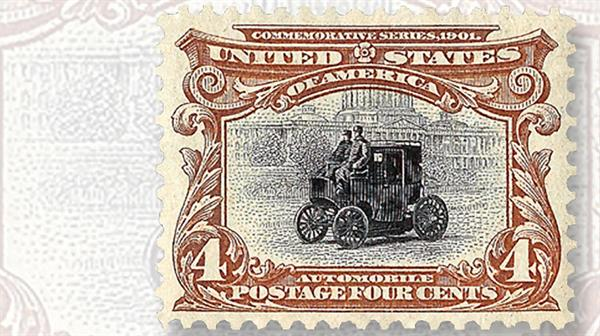 electric-automobile-in-washington-united-states-stamp