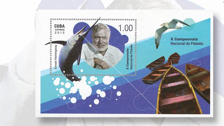 ernest-hemingway-cuba-souvenir-sheet