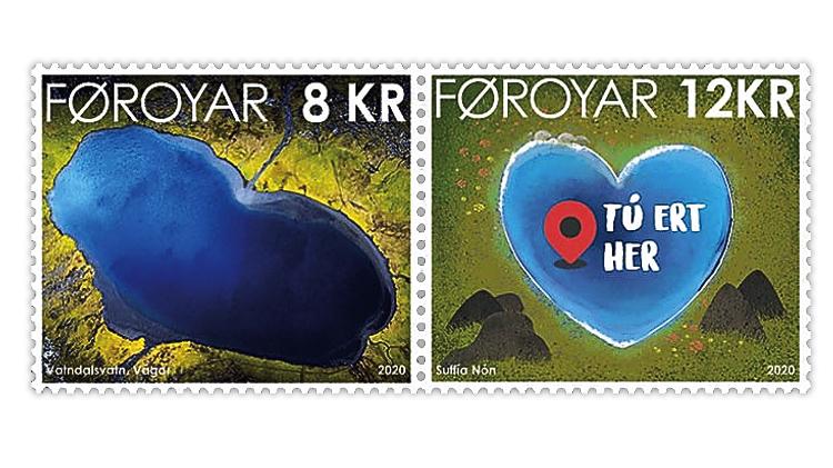 faroe-islands-2020-vatnsdalsvatn-lake-stamp