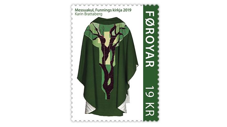 faroe-islands-funningur-church-chasuble-stamp