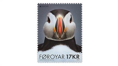 faroe-puffin-endangered-animal-postage-stamp