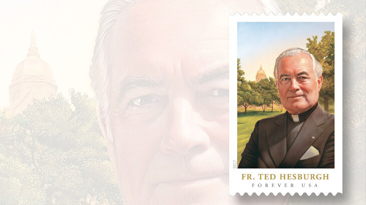 father-ted-hesburgh-commemorative-forever-coil-stamp