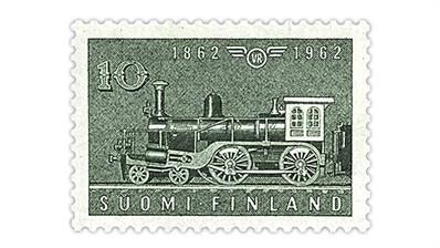 finland-1962-railway-centenary-stamp