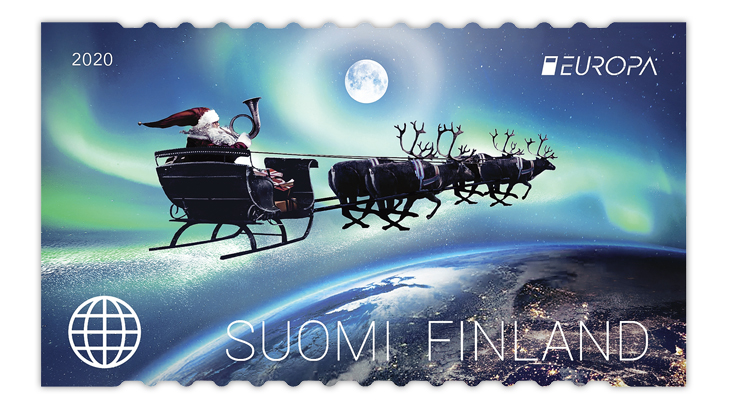 finland-2020-europa-ancient-postal-routes-santa-claus-stamp